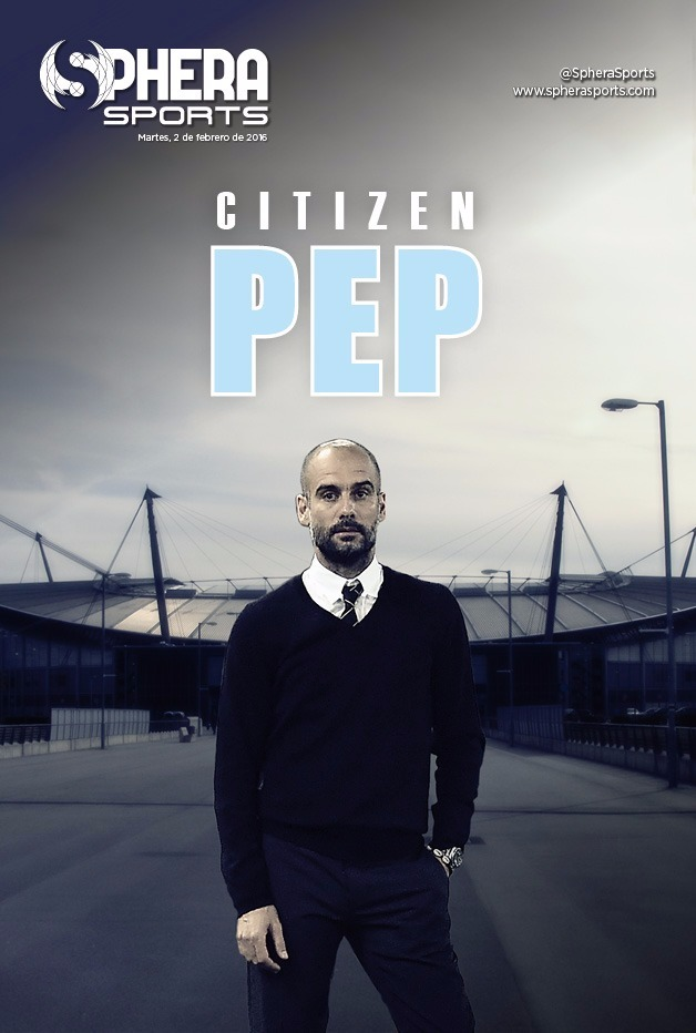 Capa do jornal Guardiola no Manchester City