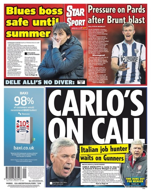 Capa do Jornal Daily Star (sports)