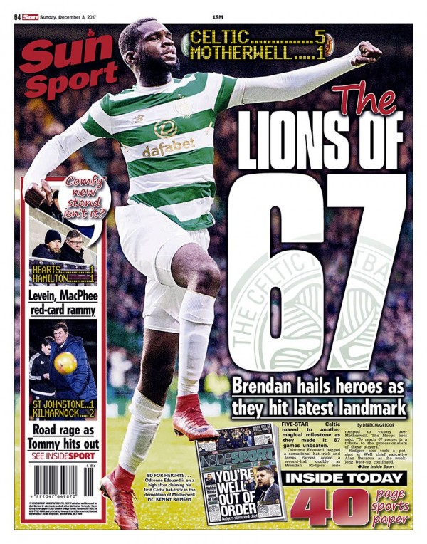 Capa do jornal The Scottish Sun Sport